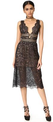 For Love & Lemons Mon Cheri Midi Dress $299 thestylecure.com