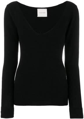 Fine Edge knitted v-neck sweater