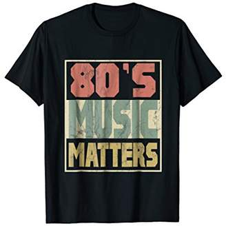 80s Music Matters Tshirt Vintage 80s Style Retro Colors Tee