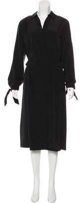 Vince Long Sleeve Midi Dress