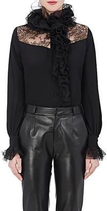 Lanvin Women's Ruffle Silk & Lace Blouse