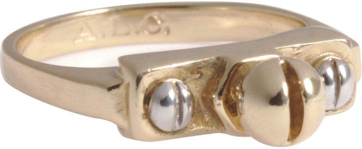 A.L.C. Jewelry Brass Screw Top Mini Stack Ring