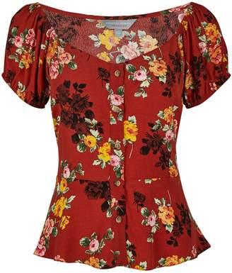 Dorothy Perkins Womens Petite Ginger Floral Print Top