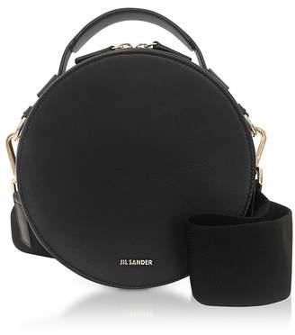 Jil Sander Black Leather Round Crossbody Bag