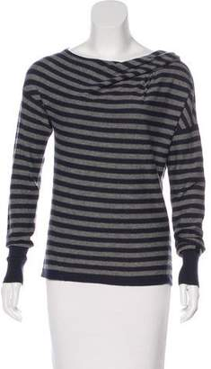 Les Copains Wool-Blend Striped Top
