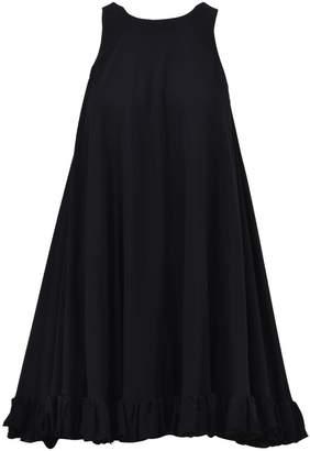 MSGM Ruffle Mini Dress Black