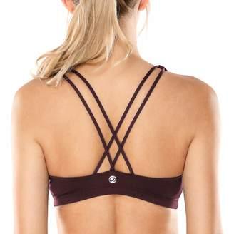 CRZ YOGA Women's Light Support Cross Back Wirefree Yoga Bralette Sports Bra M