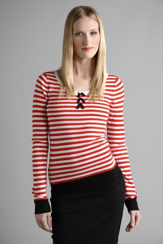 SONIA by Sonia Rykiel Stripe Long Sleeve Top