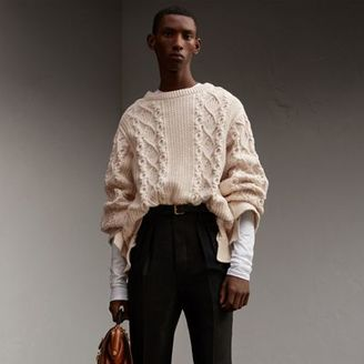 Burberry Cotton, Wool and Cashmere Blend Sculptural Sweater $895 thestylecure.com