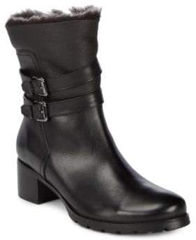 Blondo Fabiana Leather Faux Fur Trim Boots