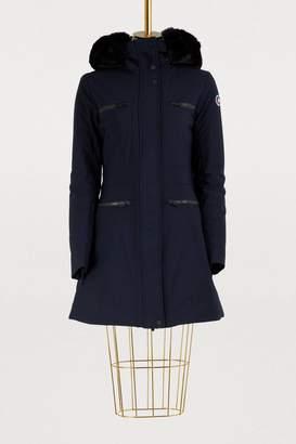 Fusalp Jeanne long jacket with fur-lined hood