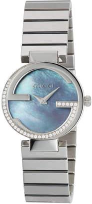Gucci 29mm Interlocking G Bracelet Watch, Mother-of-Pearl