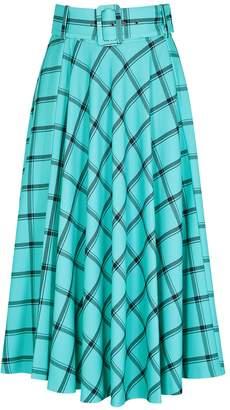 Alice + Olivia Parcell Checked Midi Skirt
