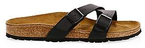 Birkenstock Women's Women's Yao Crossover Double-Strap Slide Sandals