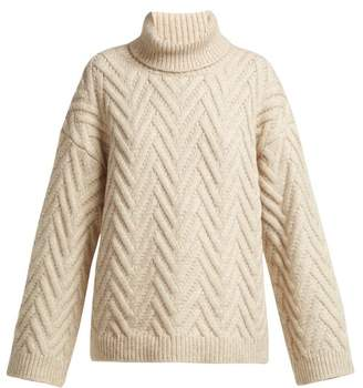 Nili Lotan Lee Roll Neck Sweater - Womens - Cream