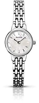 Accurist Women's Quartz Watch with Mother of Pearl Dial Analogue Display and Silver Stainless Steel Bracelet LB1407P.01