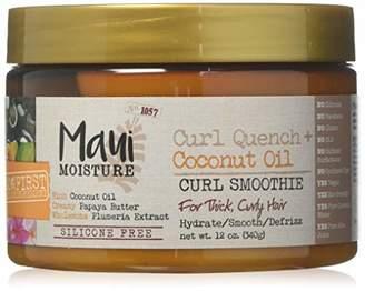 Maui Moisture Coconut Oil Curl Smoothie 12 Ounce Jar (354ml) (6 Pack)