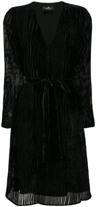 Paul Smith ribbed-design evening dress