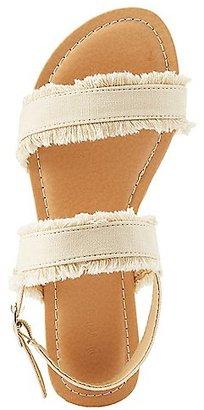 Frayed Denim Slingback Sandals $19.99 thestylecure.com