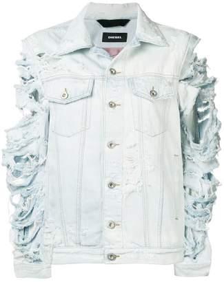Diesel Devisty distressed denim jacket