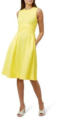 Hobbs Yellow 'Twitchill' Knee Length Dress