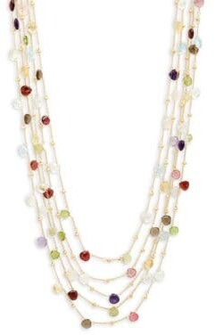 Saks Fifth Avenue Gold-Plated Multi-Stone Five-Strand Necklace