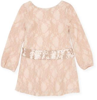 Billieblush Embroidered Floral Dress