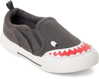 Carter's Toddler Boys) Grey Damon Dinosaur Slip-On Sneakers
