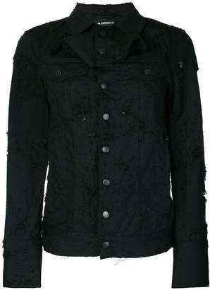 Ann Demeulemeester distressed denim jacket