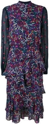 Saloni floral print ruffled dress