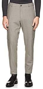Ralph Lauren Purple Label Men's Cargo Wool Flannel Trousers - Charcoal