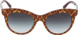 Dolce & Gabbana Damascus Glitter Sunglasses