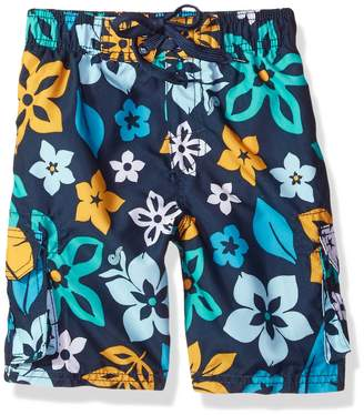 Kanu Surf Little Boys' Revival Floral Quick Dry Beach Board Shorts Swim Trunk
