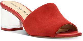 Katy Perry Kaitlynn Lucite Heel Slide Dress Sandals Women's Shoes