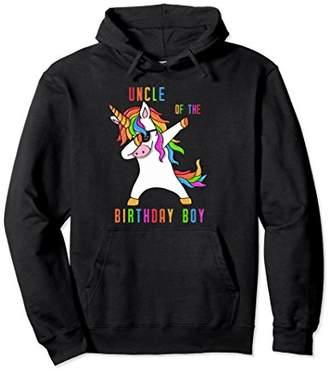 Uncle of the birthday boy I Unicorn Birthday Hoodie