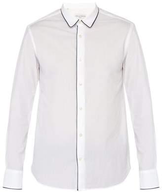 Officine Generale Gab Cotton Seersucker Shirt - Mens - White Multi