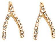 Jennifer Meyer Rose Gold Diamond Wishbone Studs