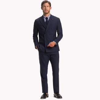 Tommy Hilfiger Virgin Wool Double-Breasted Slim Fit Suit