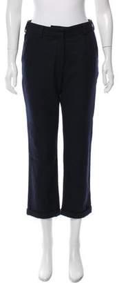 Charlotte Gainsbourg x Current/Elliott The Suit Mid-Rise Pants