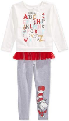 Dr. Seuss Little Girls 2-Pc. Cat in the Hat Sweatshirt & Leggings Set