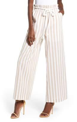 ENGLISH FACTORY Stripe Wide Leg Pants