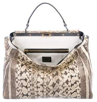 Fendi Large Snakeskin Peekaboo Bag multicolor Large Snakeskin Peekaboo Bag