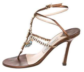 Jimmy Choo Embellished Thong Sandals