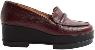 Clergerie Burgundy Leather Heels