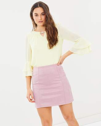 Dorothy Perkins Faux Suede Mini Skirt
