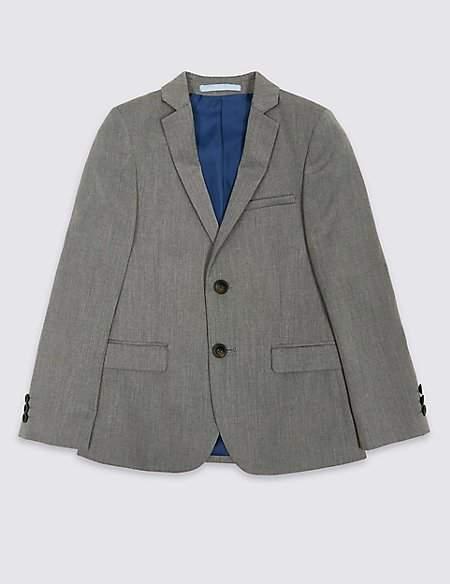 2 Button Textured Jacket (3-16 Years)