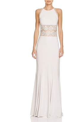 LM Collection Boho Illusion Lace Detail Gown $408 thestylecure.com