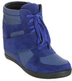 Wet Seal WetSeal Zeeker Wedge Sneaker Blue
