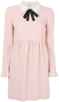 Red Valentino pussy bow collar dress $675 thestylecure.com