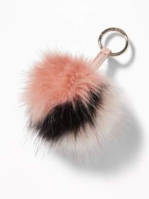 Old Navy Faux-Fur Pom-Pom Key Chain for Women